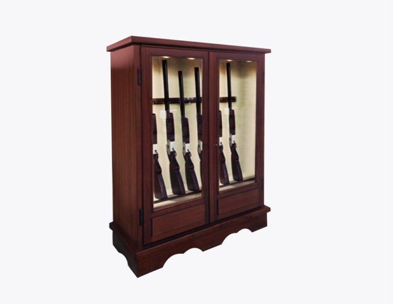 armadio-doppia-anta-vetrinetta-portafucili-PFLV20-fucile-linea-plus-acciaio-rivestito-legno-sicura-casseforti
