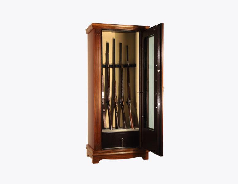 armadio-portafucili-PFCLV-fucili-linea-wood-vetrinetta-acciaio-rivestito-legno-interno-sicura-casseforti